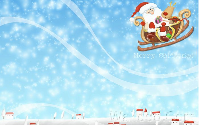 Wallpaper Korean Christmas illustration sweet Christmas Cartoon 700x438