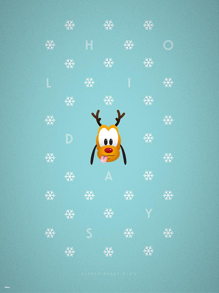 2015 Disney Parks Holiday Wallpaper 768x1024