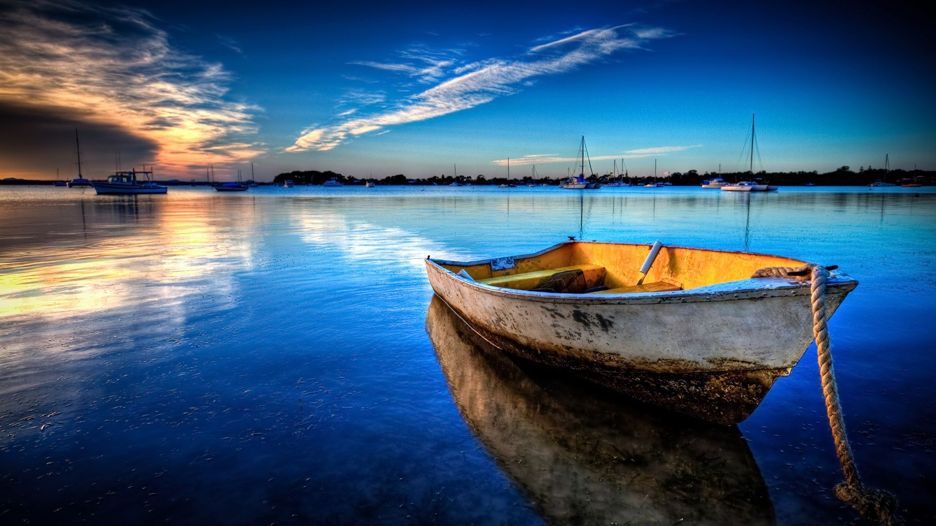 Nature Exceptional Boat Anchored picture nr 60889 1920x1080