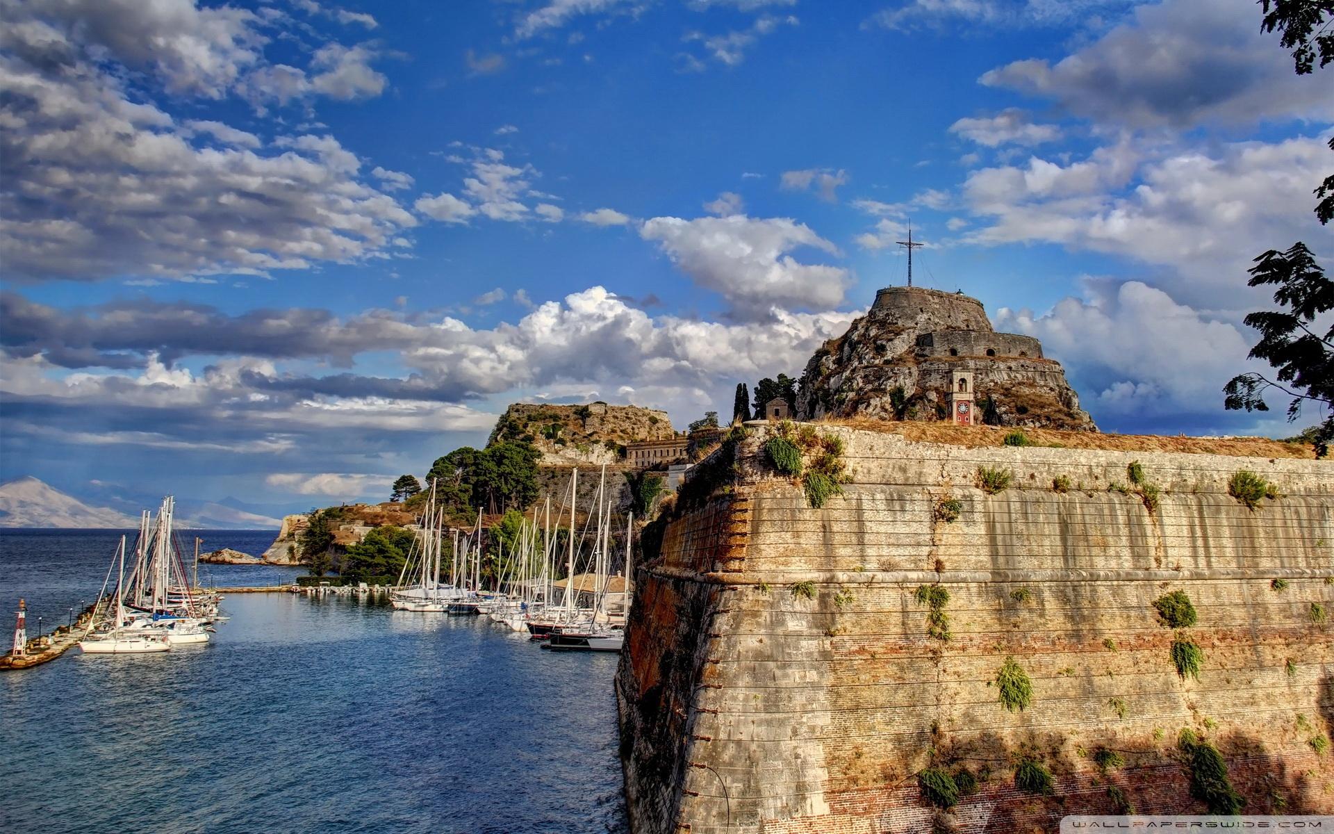 Greece Sky Coast Corfu Clouds 4K HD Desktop Wallpaper for 4K 1920x1200