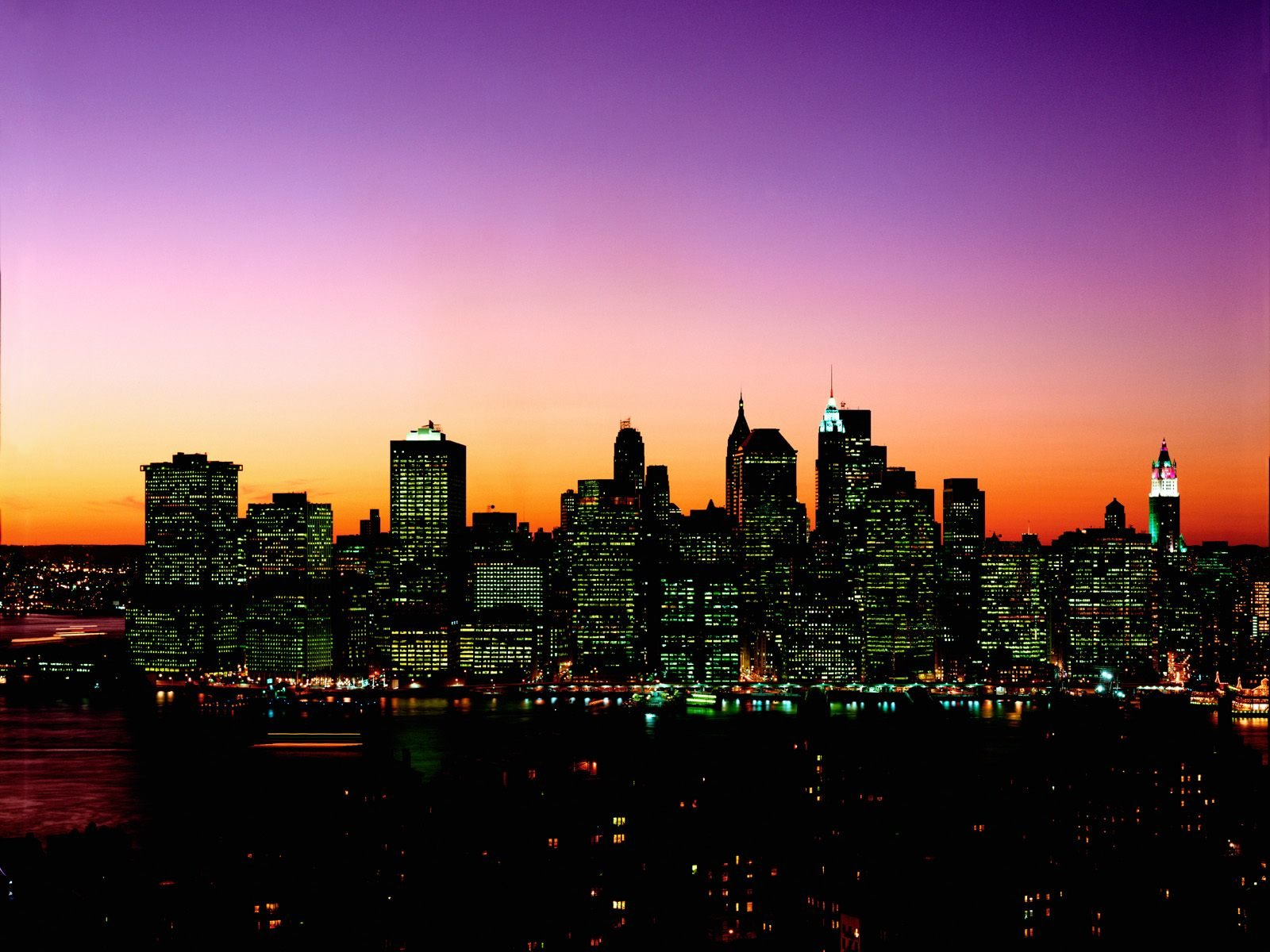 Sfondi per il tuo DesktopManhattan Skyline at Twilight New York 1600x1200