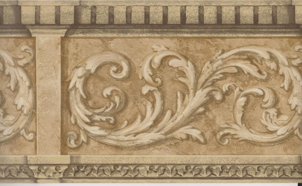 Architectural Wallpaper Border Gold Scroll Molding Wall Border Gold 1024x631