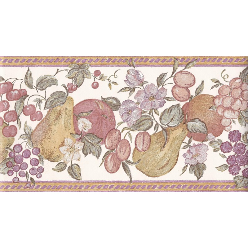 fruit 10 metre wallpaper border in white plum 512387 by coloroll 800x800