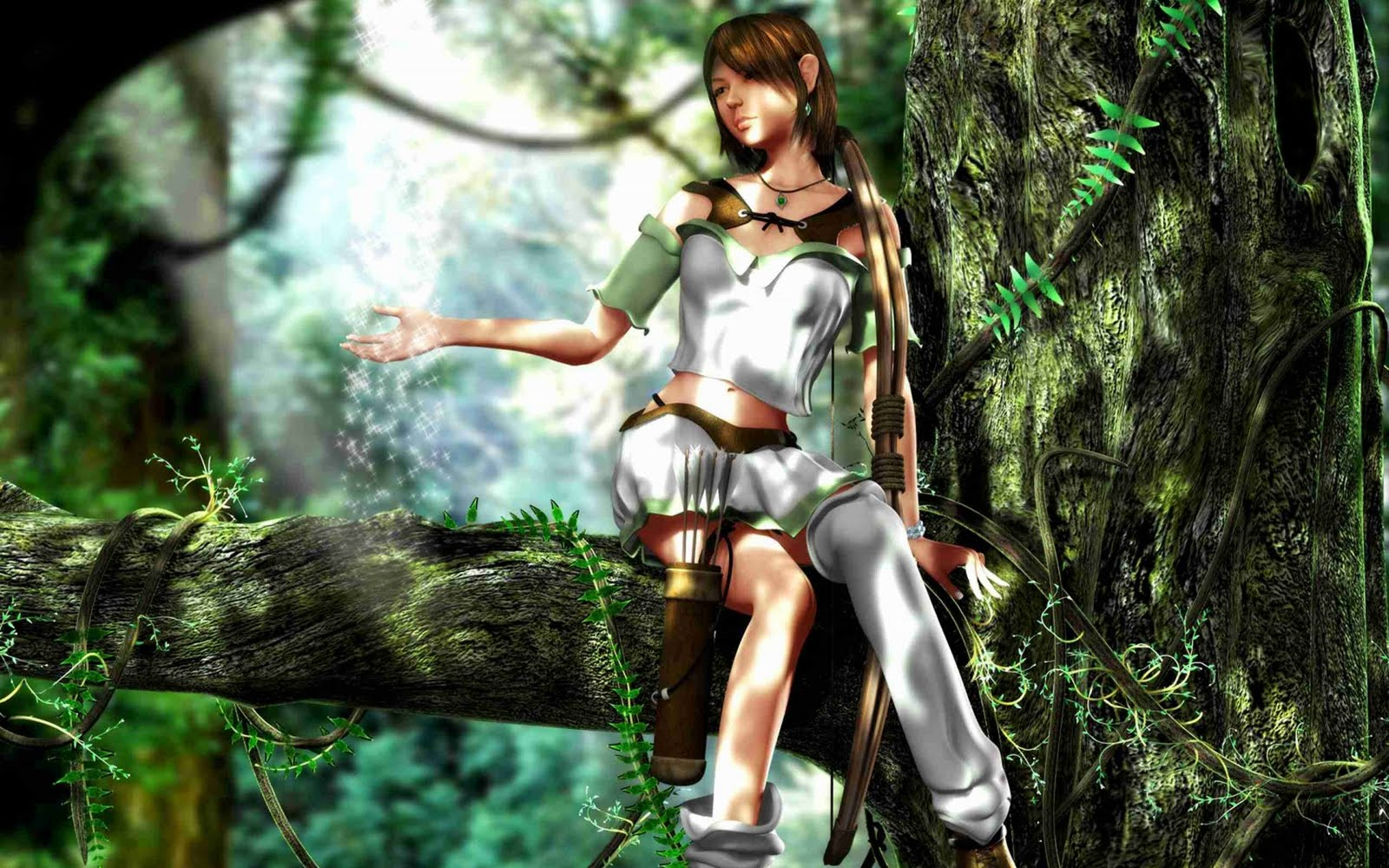 elf archer wallpaper download hd elf wallpaper elf wallpaper download 1600x1000