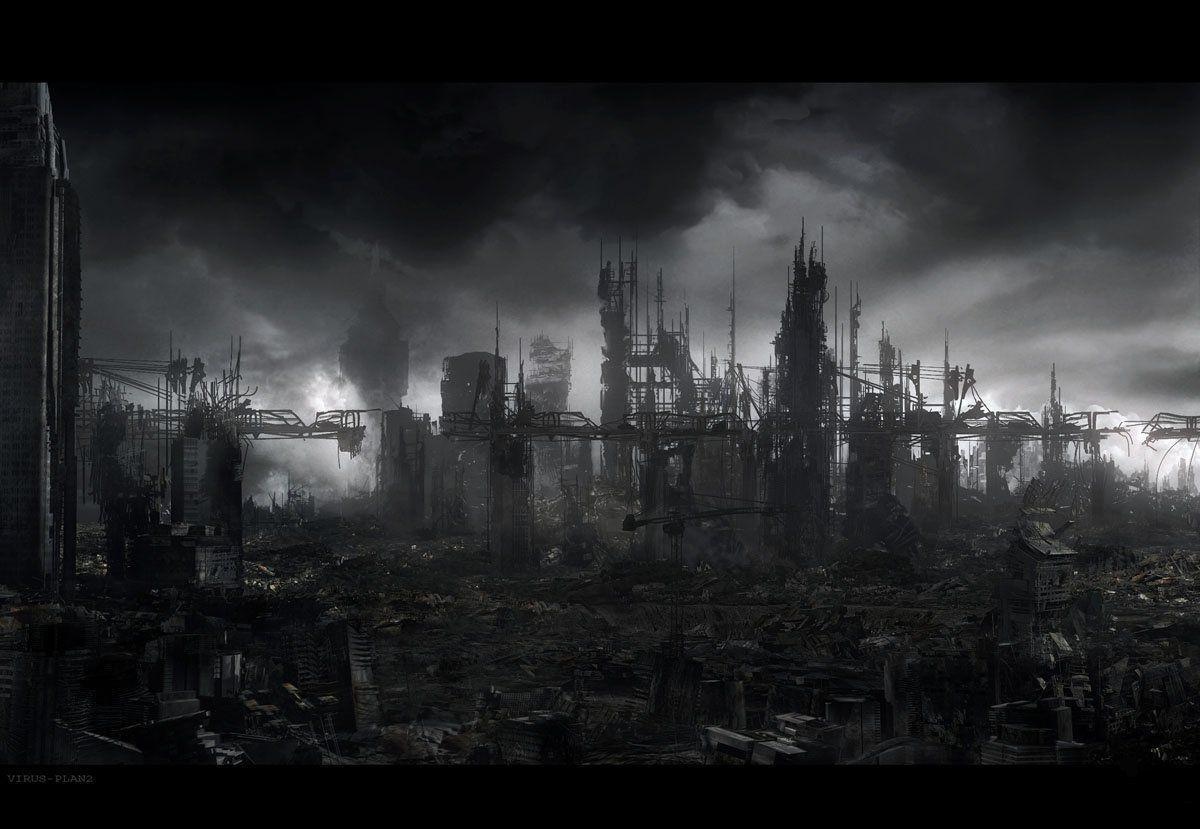 Destroyed City Backgrounds 1200x829