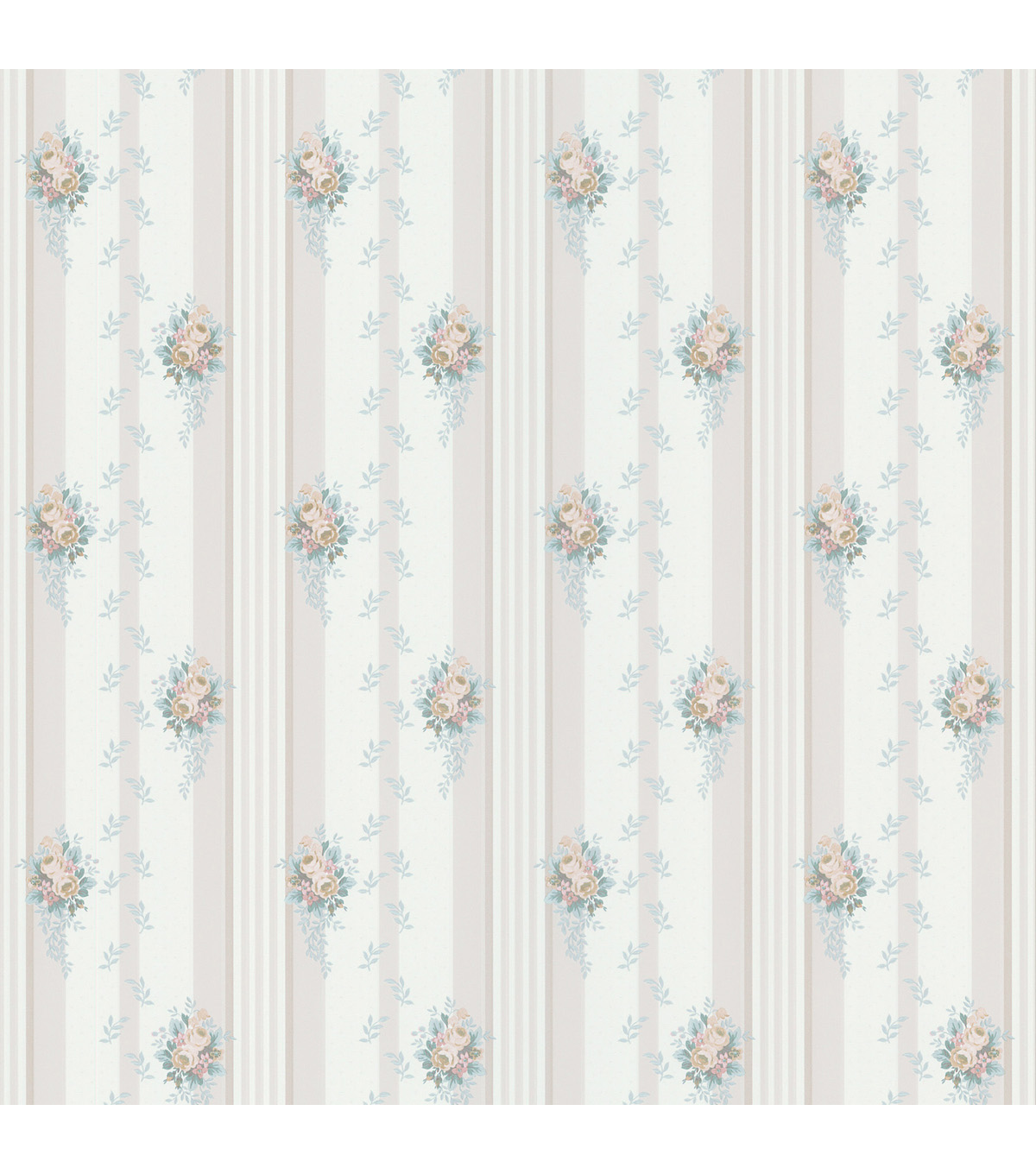 Rose Leaf Print Stripe White Wallpaper SampleRose Leaf Print 1200x1360