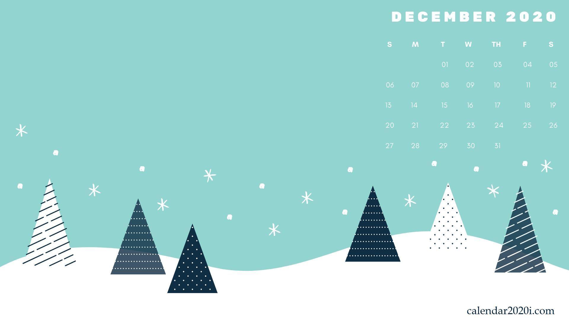 December 2020 Desktop Calendar in 2020 Calendar wallpaper 1920x1080