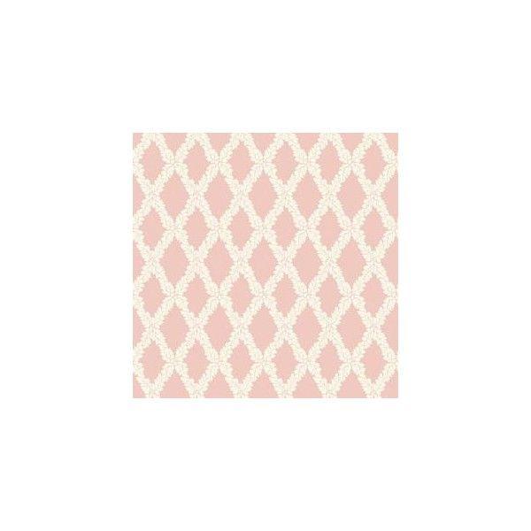 56 sq ft Pink Pastel Acorn Trellis Wallpaper 45 liked on 600x600