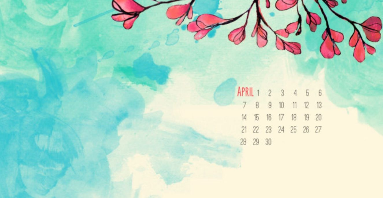 April 2018 Calendar Wallpaper For Background Calendar 2018 in 1325x684