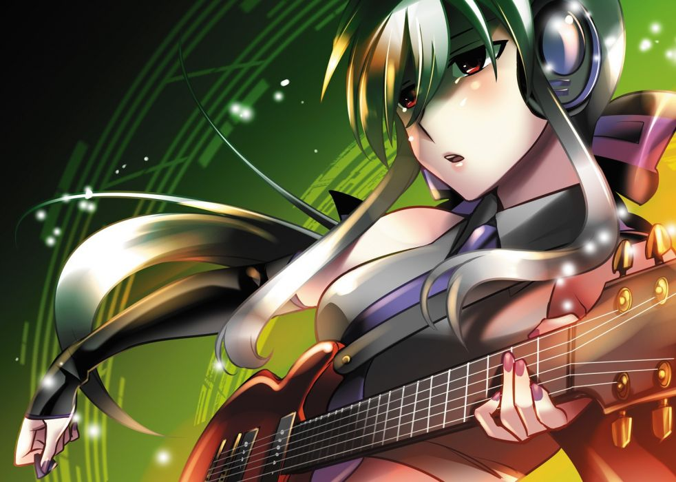 Vocaloid guitars Yowane Haku Vocaloid Fanmade wallpaper 982x700