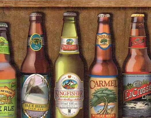Beer Bottles Wallpaper Border Wallpaper Border   Wallpaper 525x411