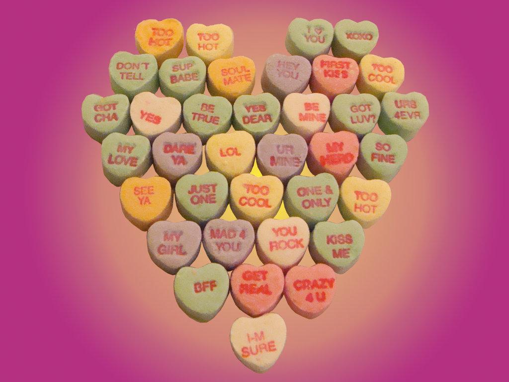valentine u0027s day candy hearts wallpaper wallpapersafari