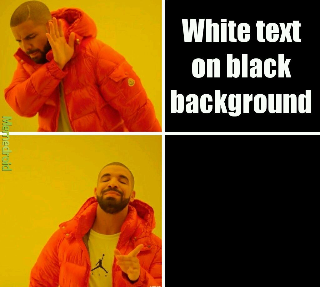 Black text on black background   Meme by Aiex22 Memedroid 1024x919