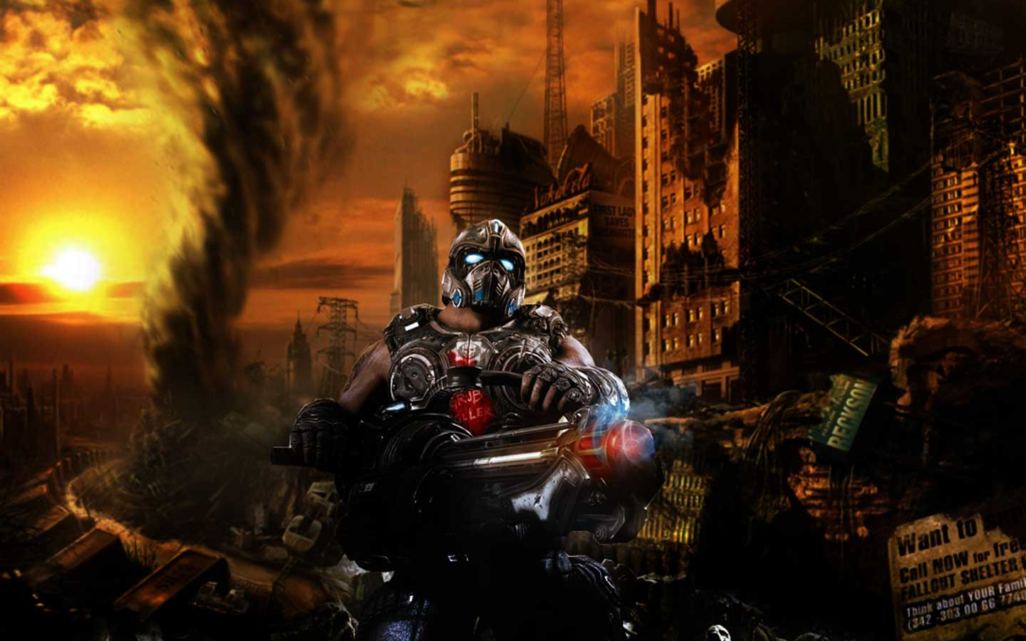 66 Gears Of War Hd Wallpaper On Wallpapersafari