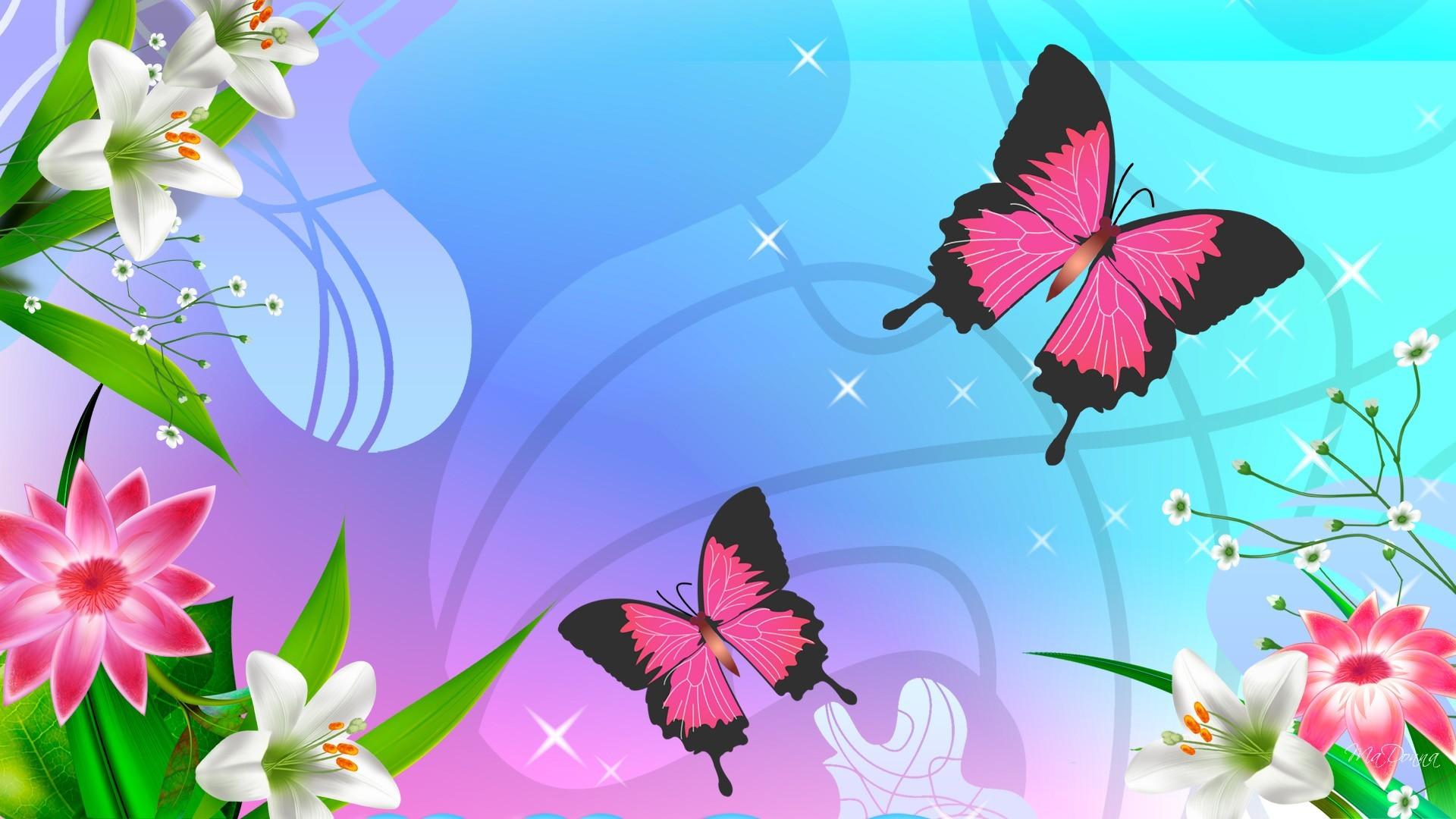 Butterfly Cartoons Wallpaper 11010 Wallpaper Cool Walldiskpapercom 1920x1080