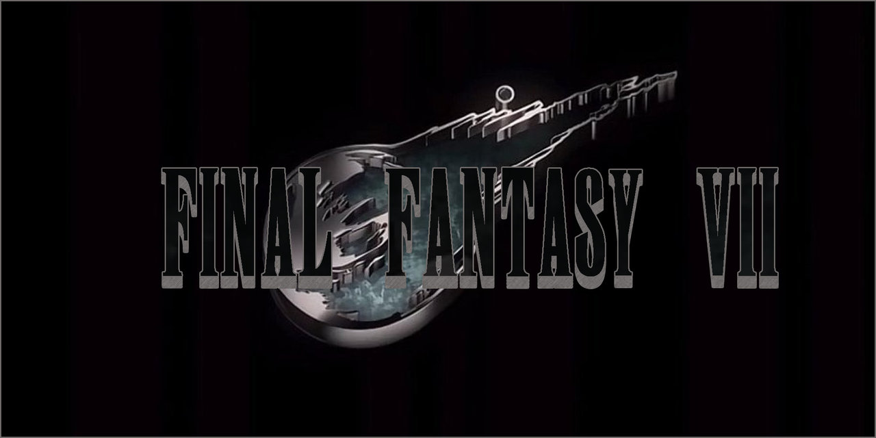 final fantasy vii remake logo by tecguyv4 watch fan art wallpaper 1280x640