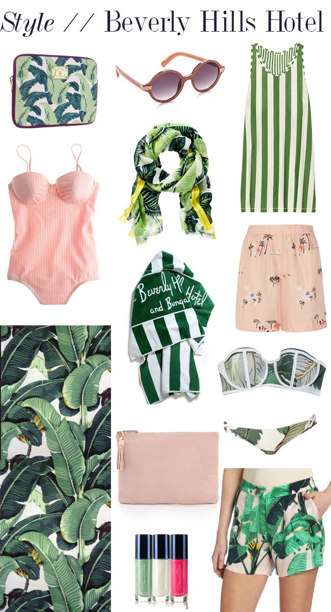 Fashion inspiration from Beverly Hills Hotels signature pink green 650x1200