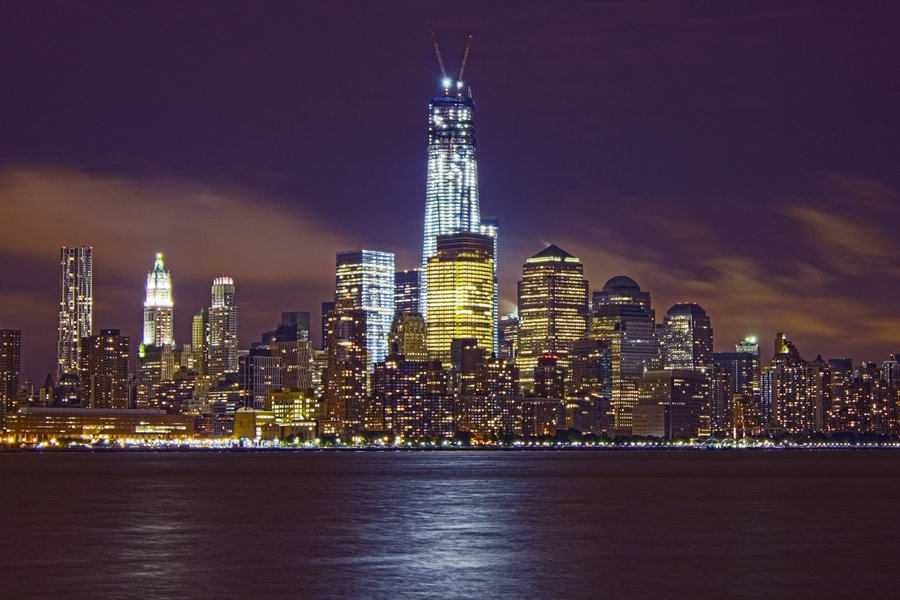 Nyc Skyline Wallpaper Freedom Tower Freedom tower dominating the 900x600
