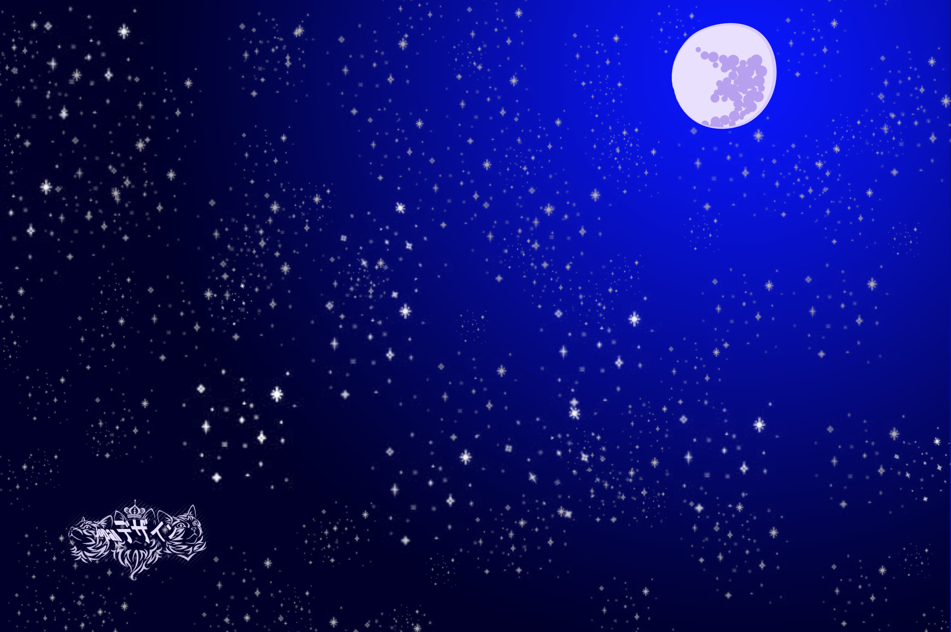 Night Stars Cartoon Starry night sky cartoon 3264x2168