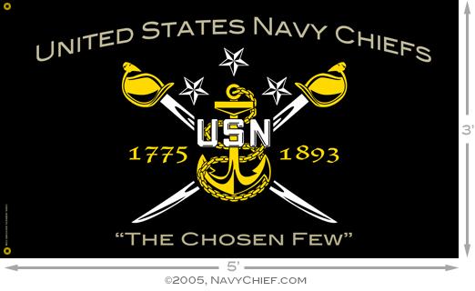 United States Navy Chiefs   The Chosen Few Flag 3 x 5 522x320