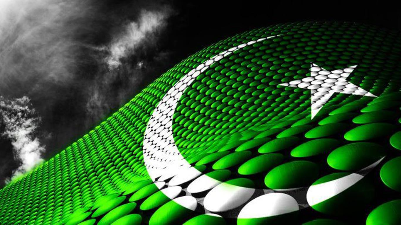 Download Pakistan Independence Day Flag 14th August HD Wallpaper 1366x768