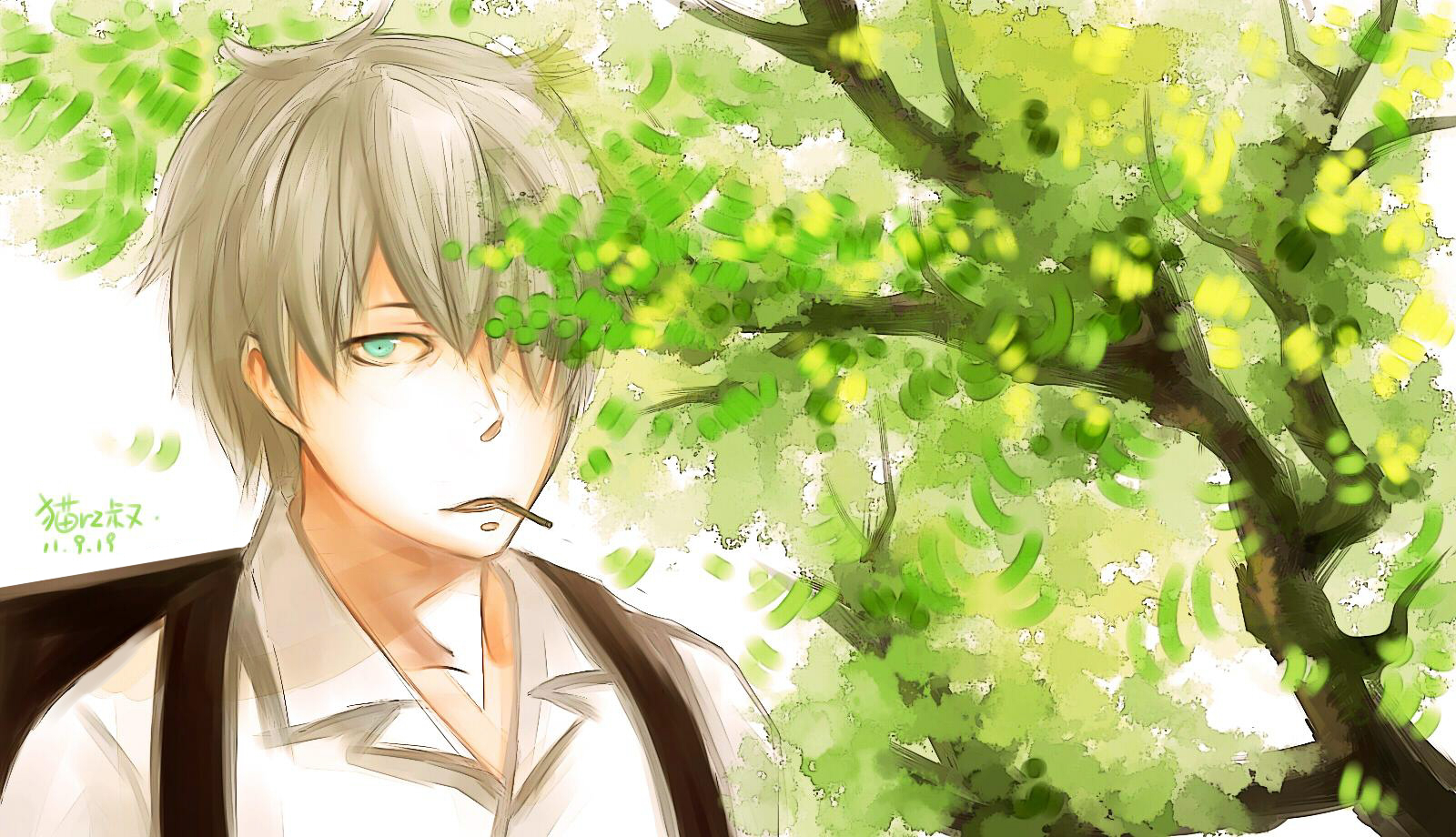 Ginko Mushishi 8 Desktop Wallpaper   Hivewallpapercom 1600x920