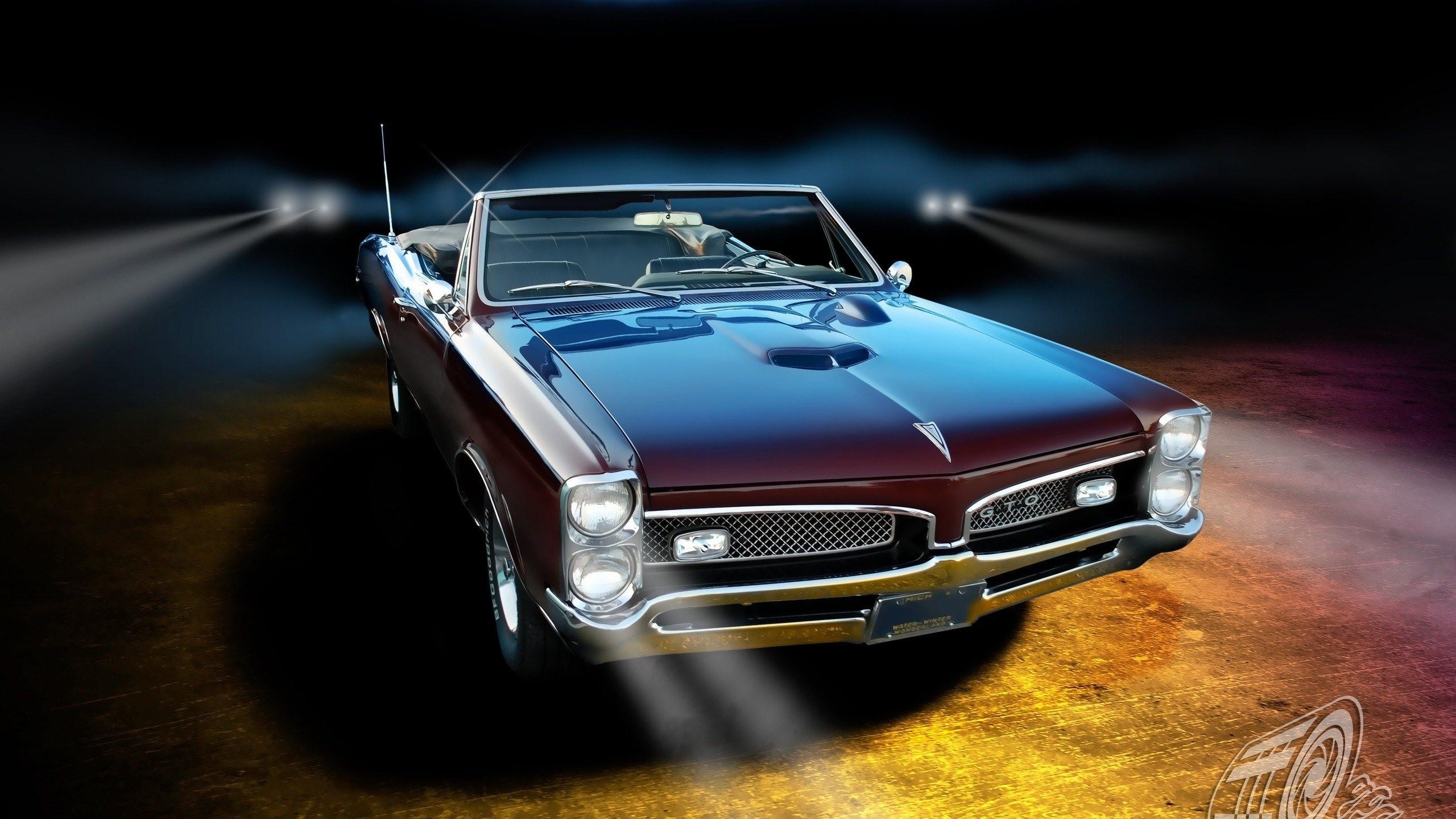 Pontiac GTO classic muscle cars wallpaper 2560x1440 2560x1440