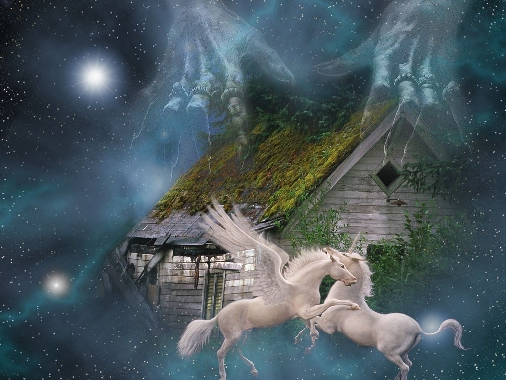 Unicorns Wallpaper Fantasy   1024x768 iWallHD   Wallpaper HD 1024x768