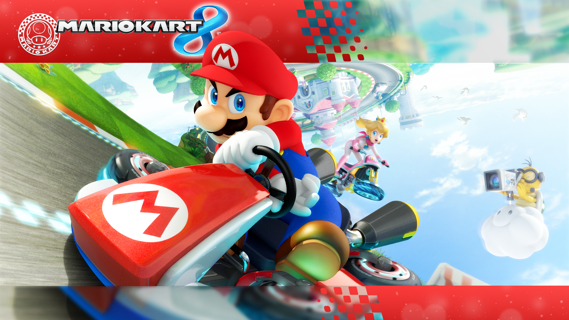 Free Download 1920 X 1080 Mario Kart 8 Wallpaper By Maxigamer