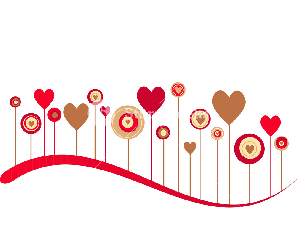Cute Vector Valentine Background  Royalty  Stock Image 1000x770