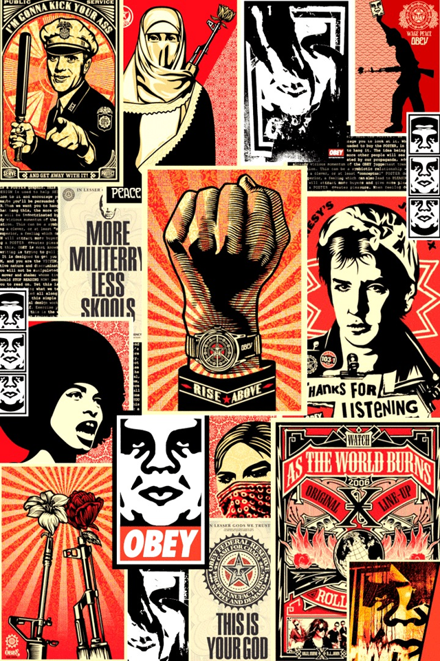 Obey Collage iPhone 4s Wallpaper Download iPhone Wallpapers iPad 640x960