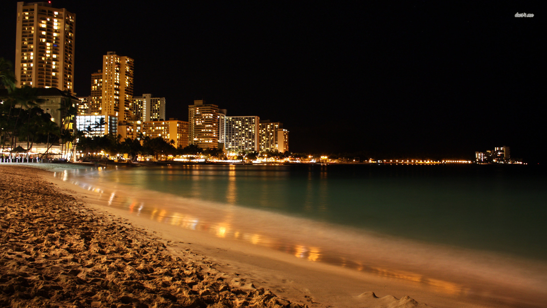 beach at night wallpaper - wallpapersafari