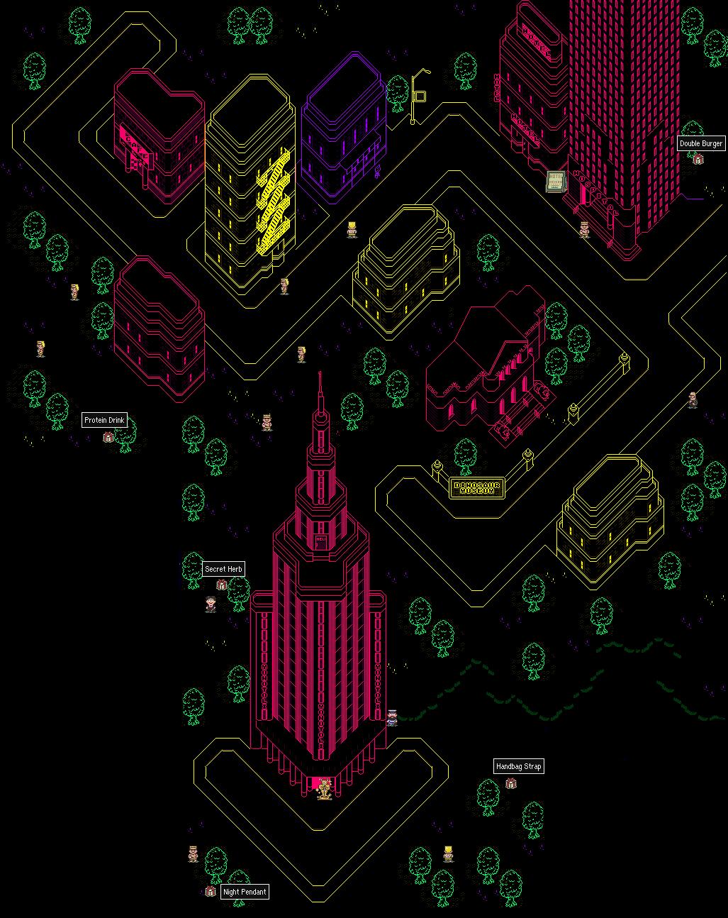 STARMENNET   MOTHER 2 EarthBound Maps 1027x1294
