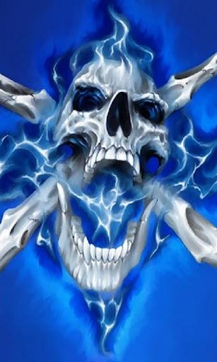Wicked Skulls Wallpaper Blue evil skull live wallpaper 307x512