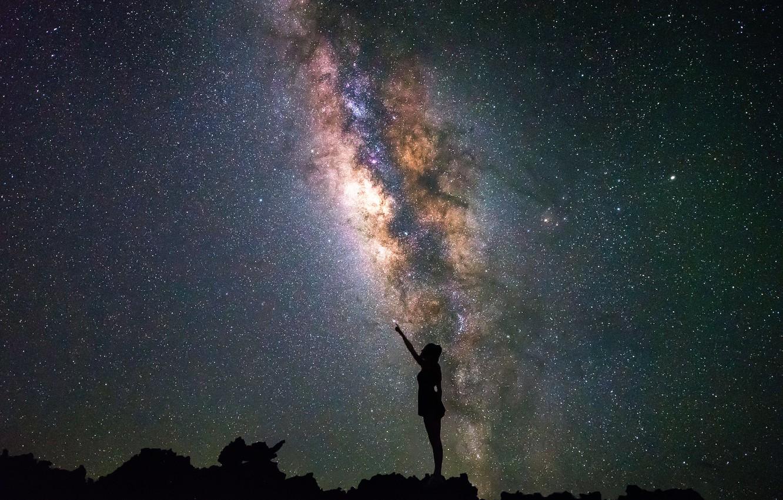 Wallpaper the sky girl stars images for desktop section 1332x850