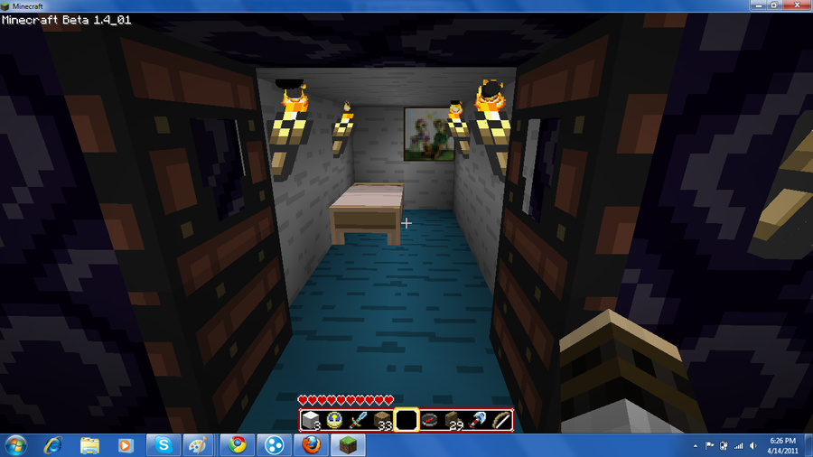 My bedroom in minecraft by JayDemon 900x506