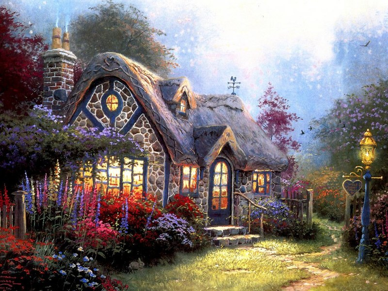Thomas Kinkade Disney Paintings Wallpaper Thomas Kinkade Disney