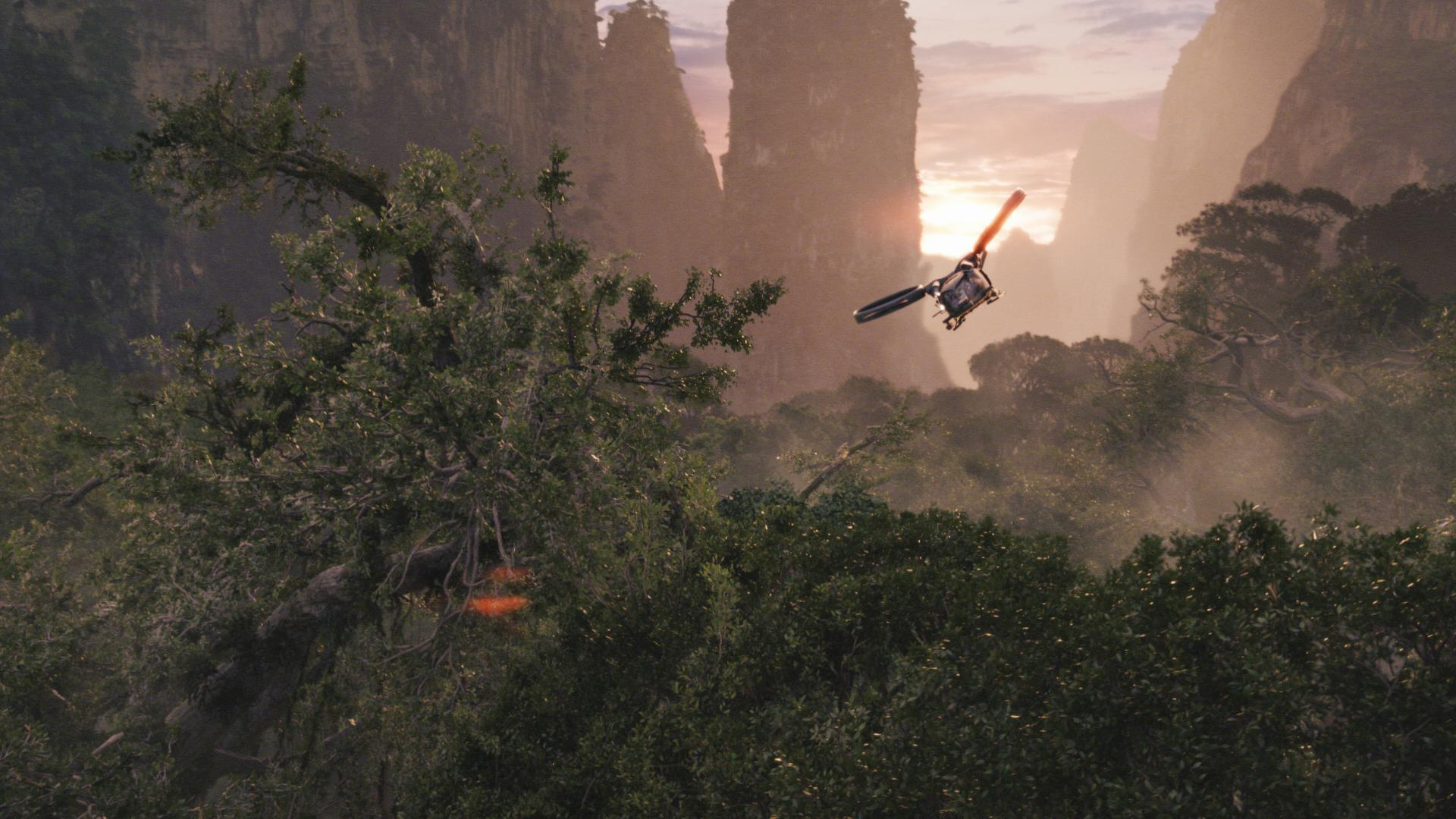 Helicopter Flying over Pandora from Avatar wallpaper   Click picture 1920x1080