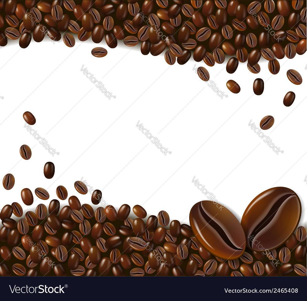 Coffee background Royalty Vector Image   VectorStock 1000x980
