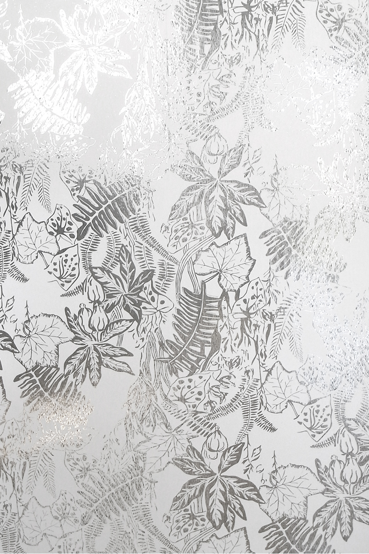 Hothouse Wallpaper   Silver and White Monument Interiors 1200x1800