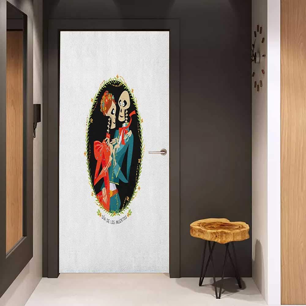 Amazoncom Onefzc Door Wallpaper Murals Day of The Dead Skull 1000x1000