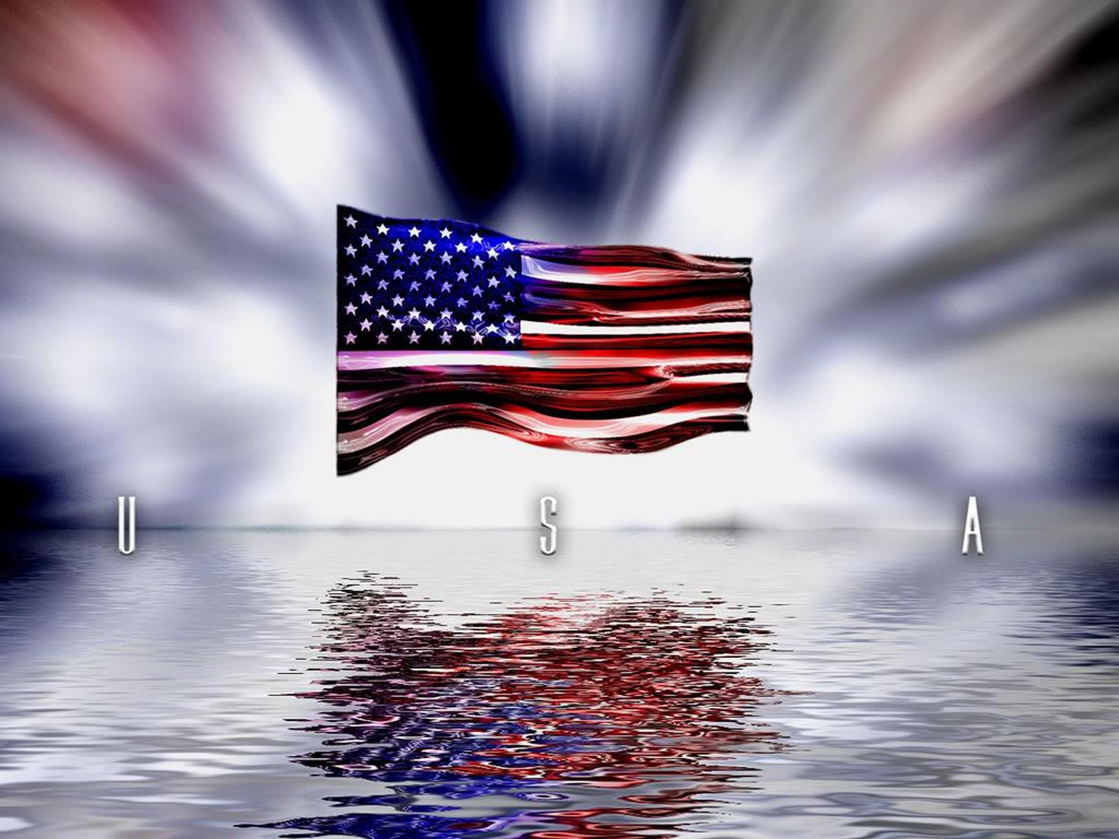 USA United States of America Flag Wallpaper Background Image 1600x1200