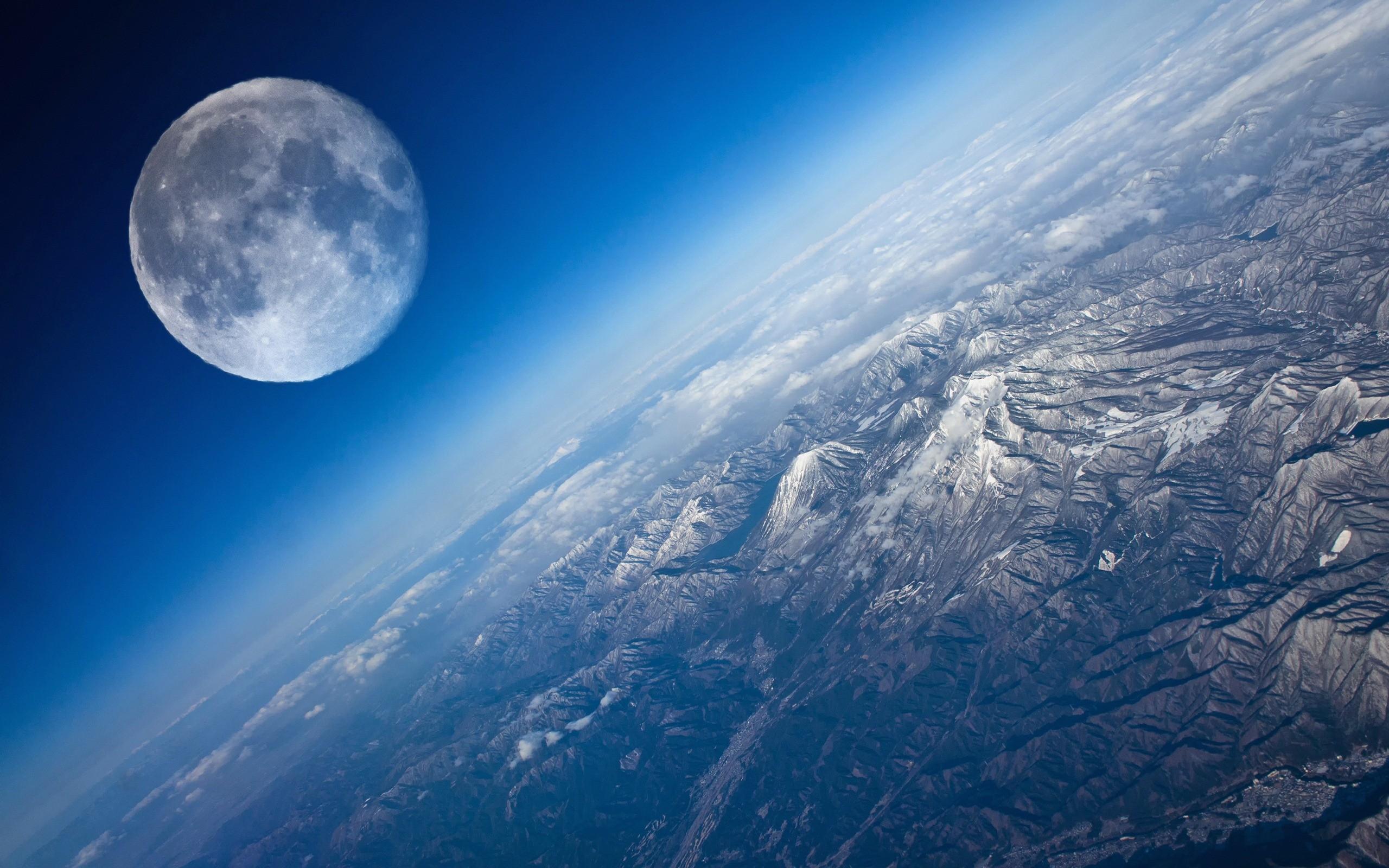 Frozen Moon Desktop Full HD Wallpapers Windows 10 Backgrounds 2560x1600
