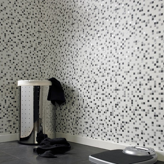 Checker mosaic wallpaper from Graham Brown Wallpapers under 30 550x550