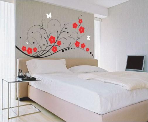 Bedroom Wall Design Ideas Modern Wallpaper Bedroom Design Ideas 506x418