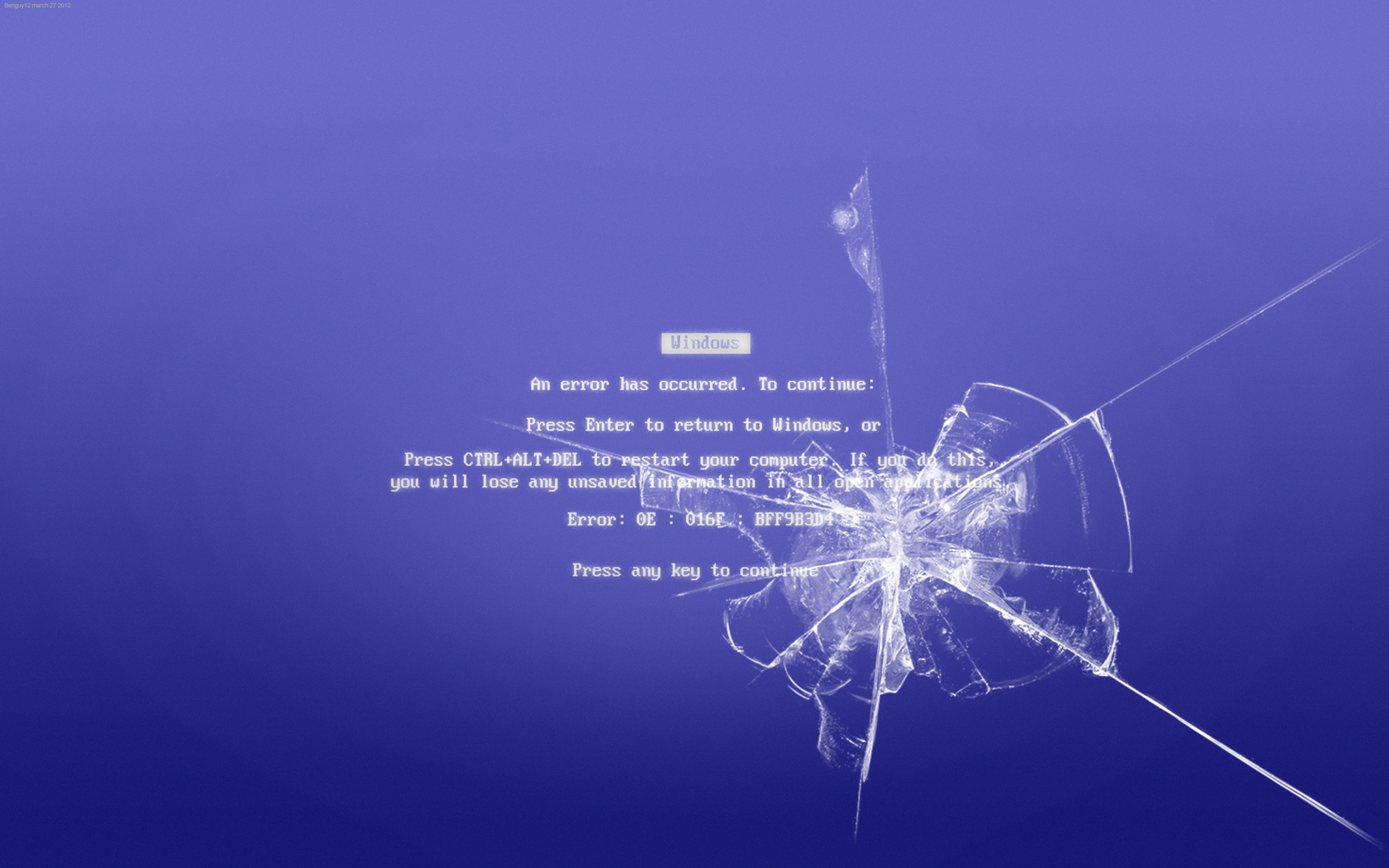 Download Smashed Bsod Wallpaper By Benguy12 3200x2000 76