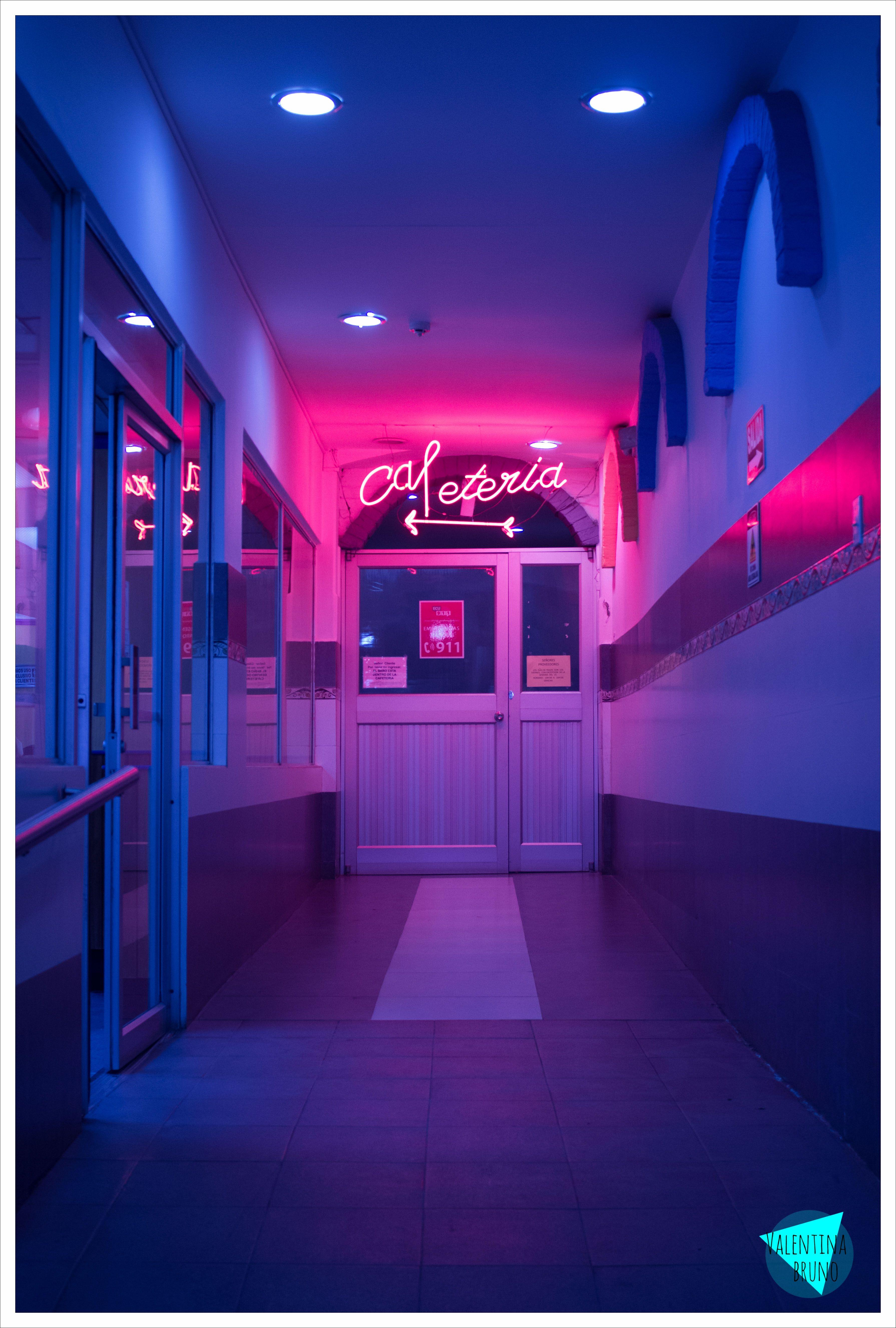 neon quito ecuador homescreen Neon aesthetic Purple 3580x5308