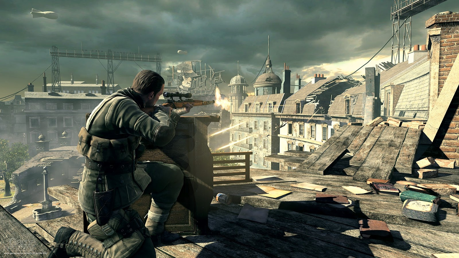 SniperEliteV2wallpapers2 Sniper Elite V2 Full HD Wallpapers 1080p 1600x900