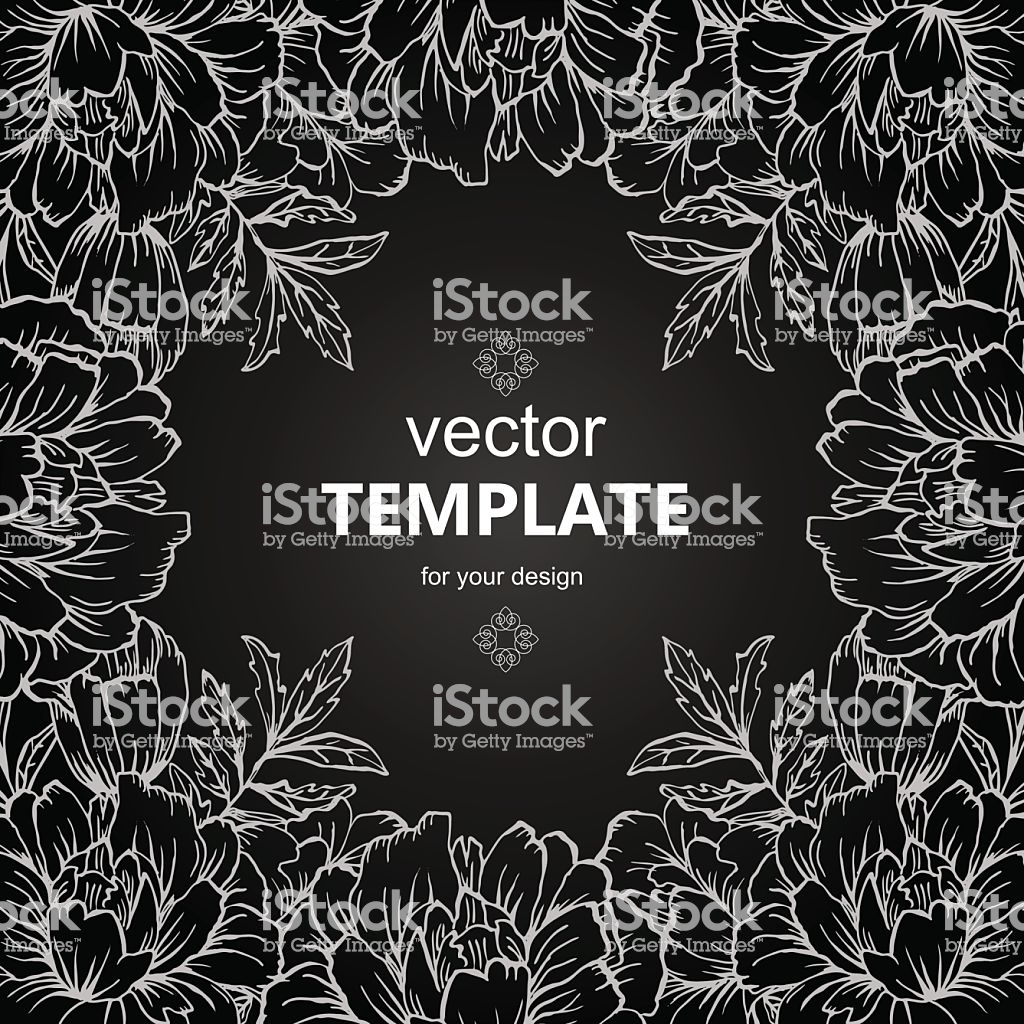 Ornate Floral Flyer With Flowers Doodle Sharpie Background 1024x1024