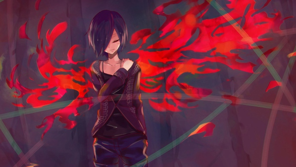 tokyo ghoul wallpapers kirishima touka backgrounds anime girl 602x339